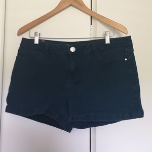 Size 12 Lauren Conrad dark teal shorts